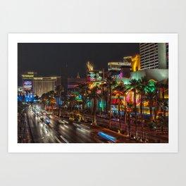 Las Vegas Nights 4 Art Print