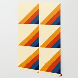 Retro Lines Diagonal Wallpaper