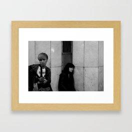 Turn away Framed Art Print