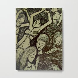 Figures in the dark detail  Metal Print