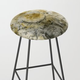 Black Pigment And Coffee Bar Stool