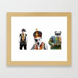 Hip Hop Animals Framed Art Print