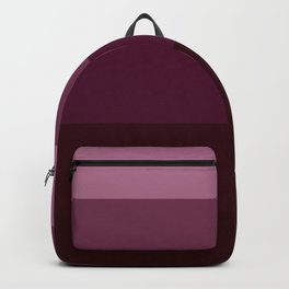 Burgundy Stripes Thick Backpack