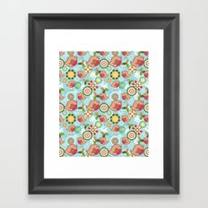 Xmas Robins Framed Art Print