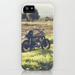 Moto guzzi, café racer, photo in south italy, man cave. Scrambler, fine art, motorcycle, motorbike iPhone Case