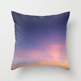 Purple and Pink Sky Throw Pillow