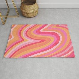Sunshine Melt – Pink & Peach Palette Rug