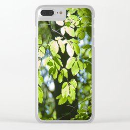 Light in the leaves Clear iPhone Case