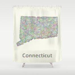 Connecticut map Shower Curtain