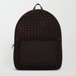 Red pattern on a black background. Backpack