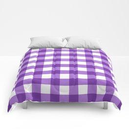 Purple Buffalo Check - more colors Comforters