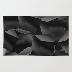 Black Fade Cubes Rug