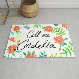Call Me Cordelia- Red Flowers Rug