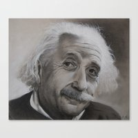 einstein Canvas Prints featuring Einstein by Sylvain Klein