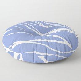 Tree Silhouette Periwinkle Blues Floor Pillow