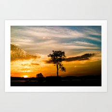 Nice Sunset Art Print
