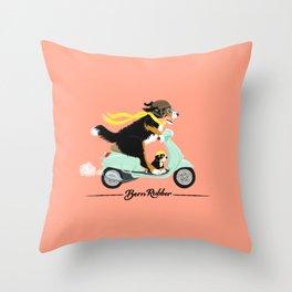 Bern Rubber - Seafoam Scooter Throw Pillow