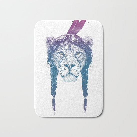 Warrior lion II Bath Mat