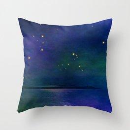 Winter lights Throw Pillow