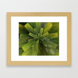 Geometric Green Burst Framed Art Print