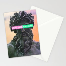 WHAT HAVE YOU DONE Stationery Cards