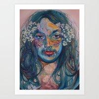 mike wrobel Art Prints featuring mike by Jordan Piantedosi