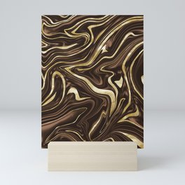 Brown Gold Marble #1 #decor #art #society6 Mini Art Print