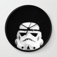 trooper Wall Clocks featuring Trooper by Emma Harckham