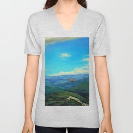 You will see me flying like a wild rain... (Me verás volar... como lluvia salvaje) Unisex V-Neck