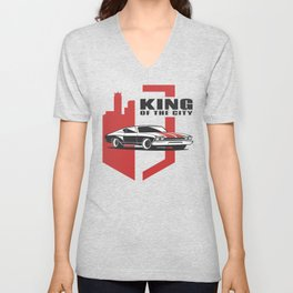 Muscle Car - the king Unisex V-Neck