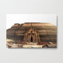 Sun Over Stone Temple Metal Print