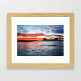 HB Sunset 1-30-18 Framed Art Print