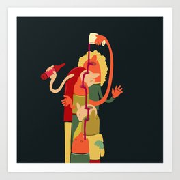 Wine Fountain Art Print