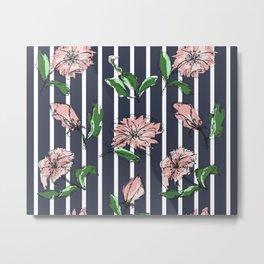 hand drawn flowers, modern print Metal Print