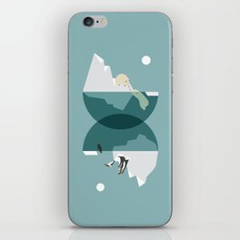 North and south iPhone Skin