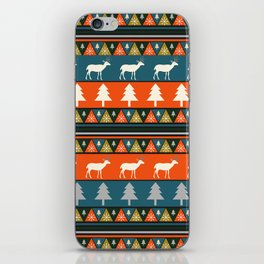 Festive Christmas deer pattern iPhone Skin