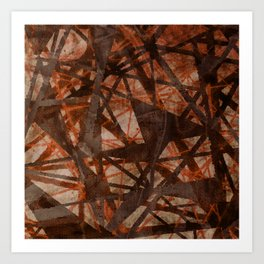 Fading Ley Lines (orange colourway) Art Print