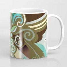 Floral curves of Joy, olive Mug