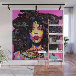 Abstract Modern African Women Wall Mural
