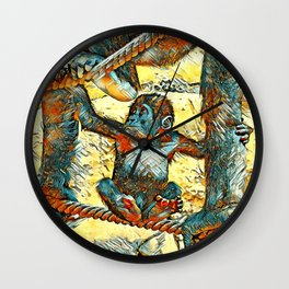 AnimalArt_Gorilla_20170605_by_JAMColorsSpecial Wall Clock