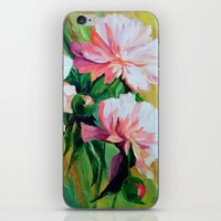 peonies iPhone & iPod Skins featuring Peonies by OLHADARCHUK