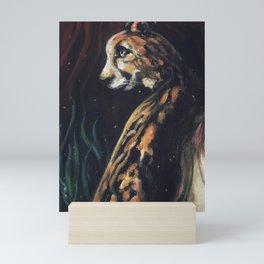 Jaguar Watching Mini Art Print