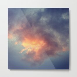 Fiery cloud Metal Print