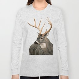 White-Tailed Buck Long Sleeve T-shirt