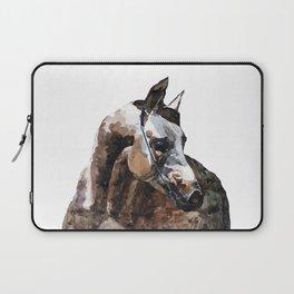 Grey arabian horse portrait Laptop Sleeve