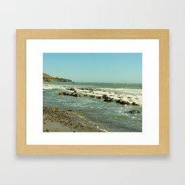Bowling Ball Beach III Framed Art Print