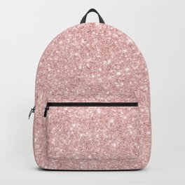Trendy girly blush pink modern abstract glam glitter Backpack