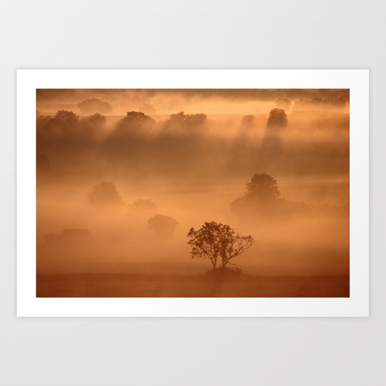 """Dawn"" whispered the mist Art Print"