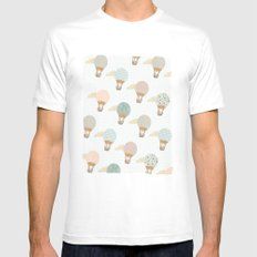 baloon collage pattern  Mens Fitted Tee MEDIUM White