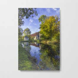 The Autumn Pond Metal Print